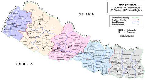 nepal regionen karte
