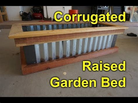 corrugated raised garden bed diy easy build project to