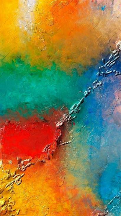 Paint Abstract Colorful Android Texture Wall Phone