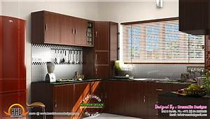 kitchen interior dining area design kerala home design With interior design normal house