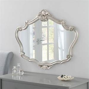 Decorative, Silver, Overmantle, Wall, Mirror, 91, X, 71, Cm
