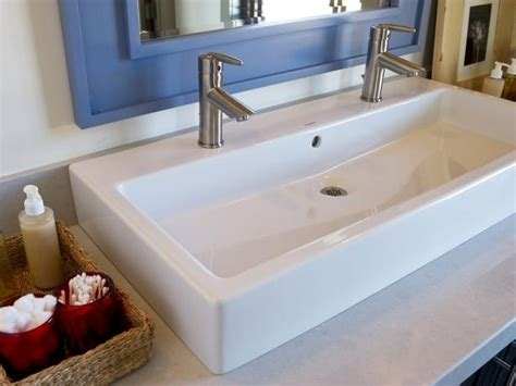 Trough Bathroom Sink With Two Faucets Canada by 1000 Images About Sinks On Farmhouse