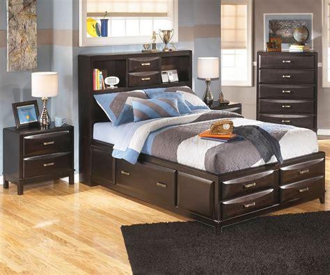 kira  full size bookcase storage bed ashley kids