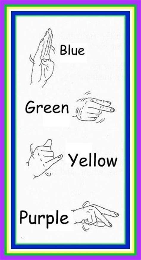 sign language for colors sign language colors sign language