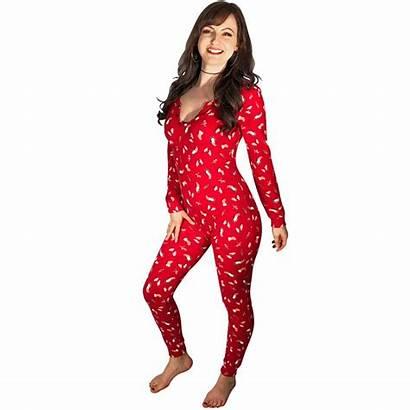 Onesie Christmas Loungewear Penguins Pajamas Footed Pajamacity