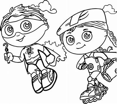 Coloring Super Why Pages Printable Sheet Wonder