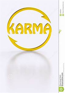 Karma Word Cycling Golden Symbol Stock Illustration ...
