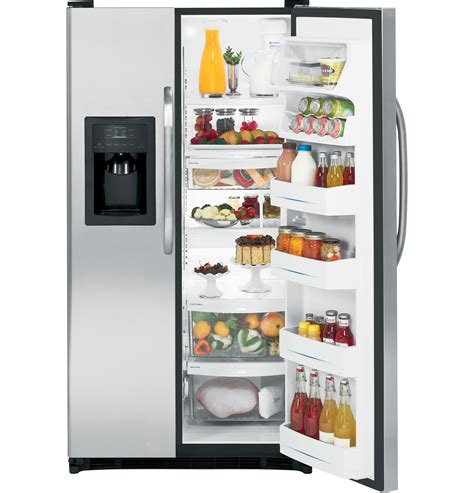 ge  energy star cu ft side  side refrigerator  dispenser gshisxss ge appliances