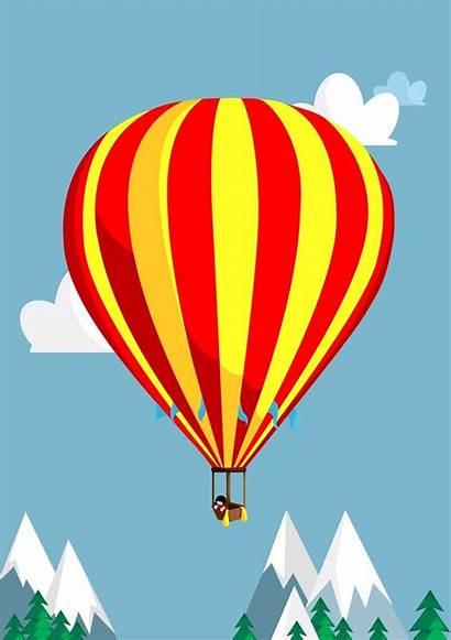 Illustration Balloon Air Surreal Clip July Konnichiwa