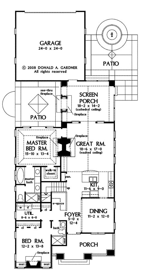 narrow lot house plans with rear garage house plans