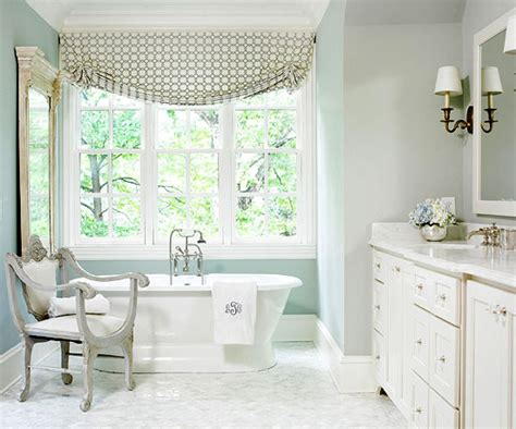 modern country style bathroom in farrow and light blue paint