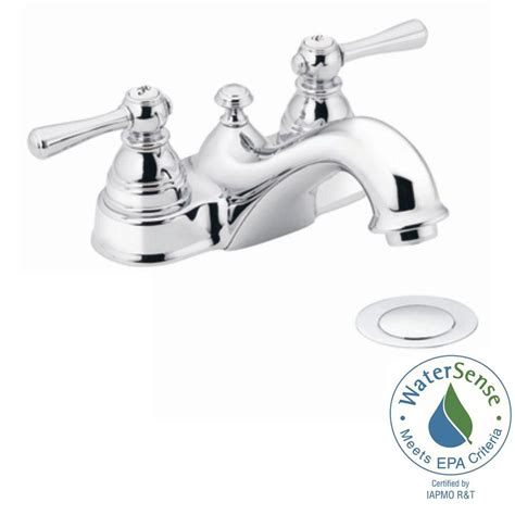 kitchen sinks with faucets moen kingsley 4 in 2 handle bathroom faucet in chrome 6101
