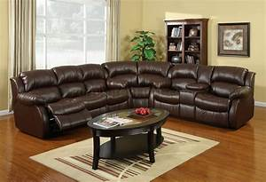 Sectional reclining sofas leather leather reclining for Ferrara leather recliner sectional sofa