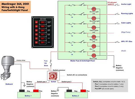 Pontoon Boat Wiring Schematic Free Diagram