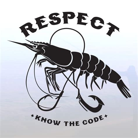 Respect The Shrimp Decal  Respect The Fish