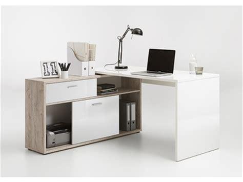 petit bureau informatique bureau d 39 angle diego up chene blanc brillant