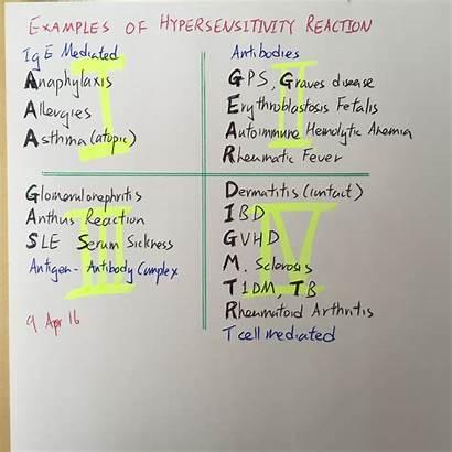 Hypersensitivity Reaction Examples Reactions Meducation Nursing Types