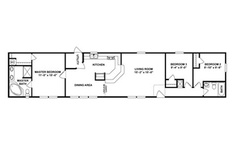 16x80 Single Wides Mobile Home Floor Plans by 16x80 Mobile Home Floor Plans