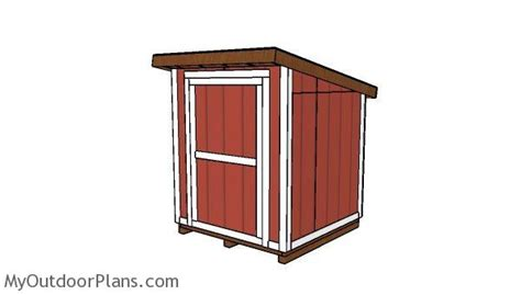 6x6 Storage Shed Plans by 6x6 Lean To Shed Plans Myoutdoorplans Free Woodworking