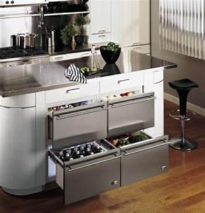 Küche Mit Kühlschrank : schubladen k hlschrank praktisch und cool ~ Markanthonyermac.com Haus und Dekorationen