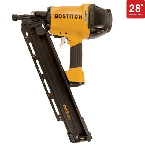 bostitch floor nailer home depot bostitch 28 degree 2 in 3 1 2 in wire weld framing