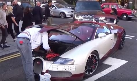 Bugatti On The Streets by Bugatti Veyron Suffers Breakdown On The Streets Of