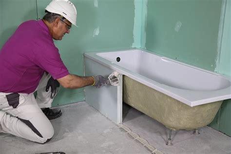 comment faire un habillage tablier de baignoire en carreaux de platre solutions pl 226 tre siniat