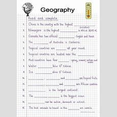 Read And Complete  Geography Worksheet  Free Esl Printable Worksheets Made By Teachers