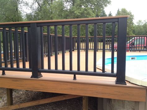 horizontal wood fences trex railings w timbertech decking buildstrong construction