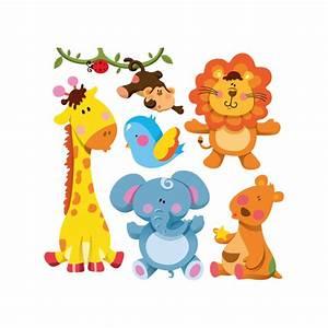 Stickers Animaux De La Jungle : kit 6 stickers animaux de la jungle color stickers ~ Mglfilm.com Idées de Décoration