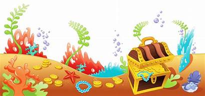 Sea Clipart Bottom Under Ocean Treasure Cliparts