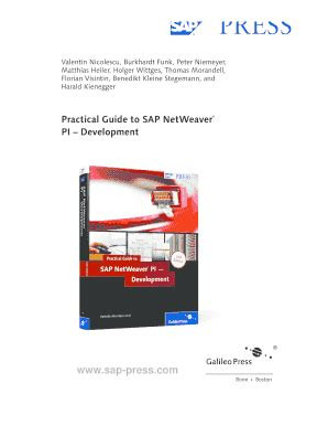 filling out an sap form practical guide to sap netweaver pi fill online