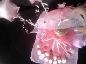 centro de meza de botella vestida con vestido rosa YouTube