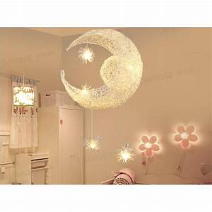 Plafonnier Chambre Fille : moon star kid enfant chambre suspension lustre lumi re plafonnier moderne balcon lampe creative ~ Teatrodelosmanantiales.com Idées de Décoration