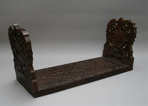 small antique wooden book rack  adjustable