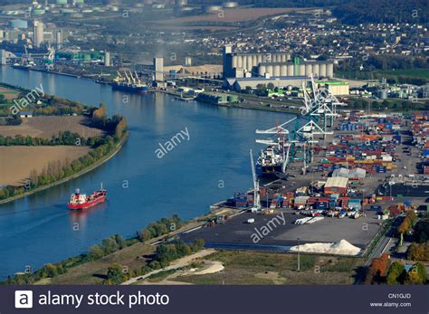 seine maritime the grand port maritime de rouen port of stock photo royalty free