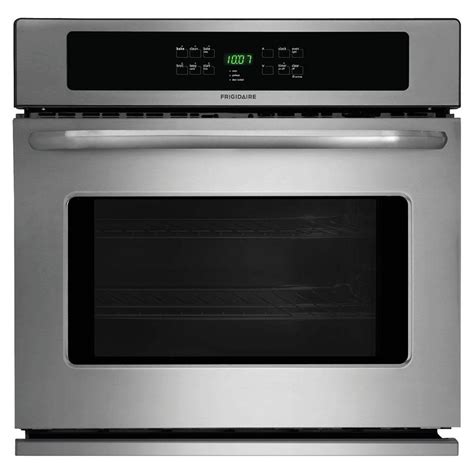 frigidaire   single electric wall oven  cleaning  stainless steel ffewps