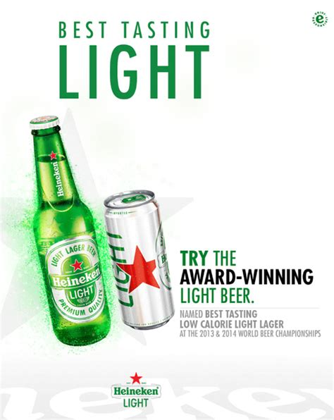 heineken light content heineken heineken light carib brewery
