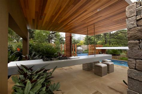 floating layers contemporary patio melbourne