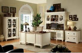 Home Office Furniture Design by Rustic Style Home Office Design With White Painted Furniture Interior Color D