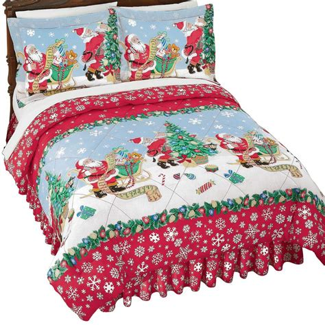 bedding sets clearance queen santa comforter set with pillow shams for
