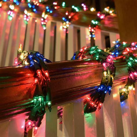 led garland xmas lights 600 multi color cluster garland light set green wire