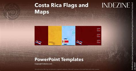 costa rica map template costa rica flags and maps powerpoint templates