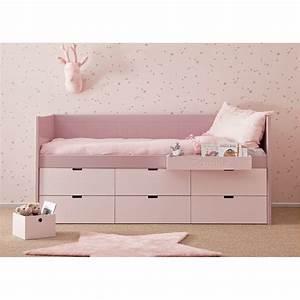 Lit Mi Hauteur Avec Rangement : lit enfant junior avec 6 tiroirs de rangement bahia block ~ Premium-room.com Idées de Décoration