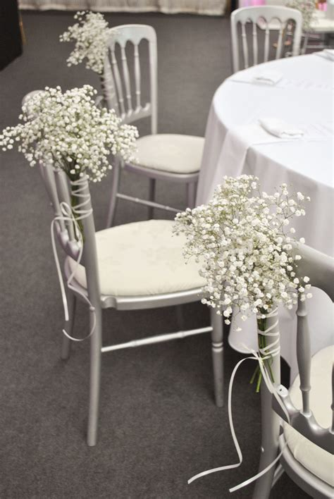 decoration chaise mariage pink and white wedding flowers heaton house farm