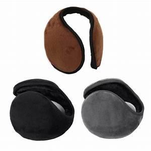 WOMEN Men Soft Plush Fluffy Ear Muffs Earmuffs Warm Winter ...
