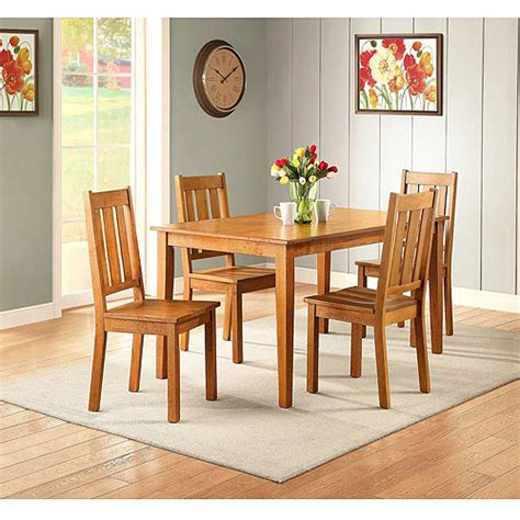 better homes and gardens bankston 5 dining set honey