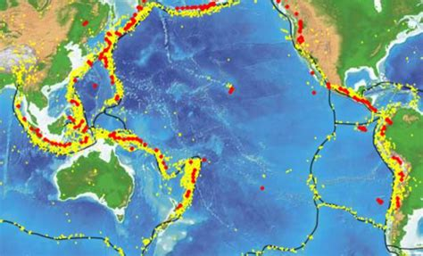 ring  fire tectonic plate  cooling  shrinking