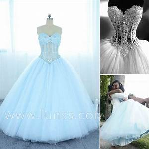 Illusion Strapless Pearl Layered Tulle Ball Gown Prom