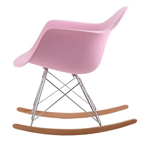 chaise eames bascule hnnhome eames inspired rar lounge retro rocker rocking